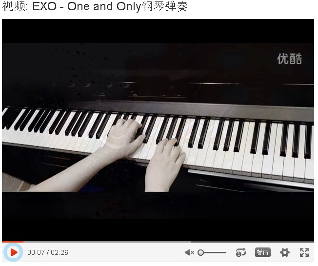 EXO One and Only玻璃鱼缸钢琴版