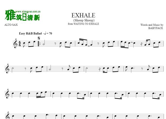 Exhale(shoop shoop)萨克斯谱