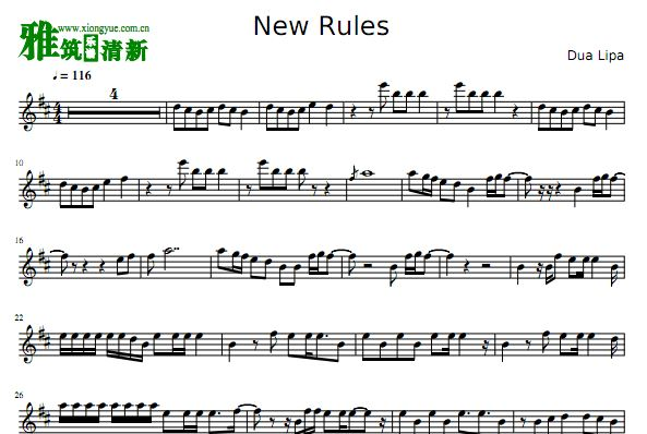New Rules单簧管谱