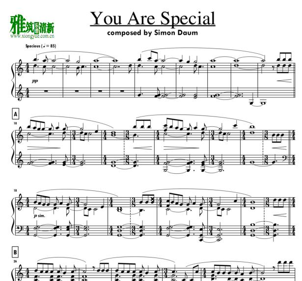 simon daum - You are Special钢琴谱