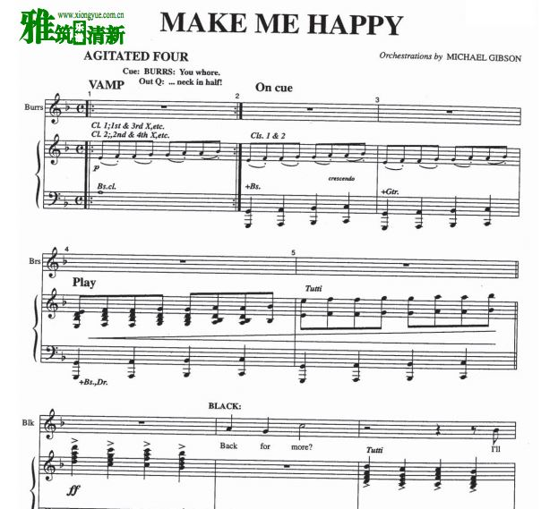 The Wild Party - Make Me Happy 钢琴伴奏谱