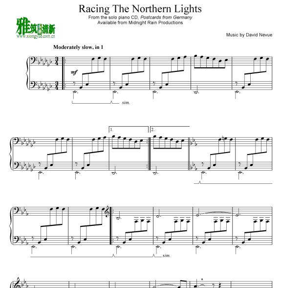 David Nevue - Racing The Northern Lights钢琴谱