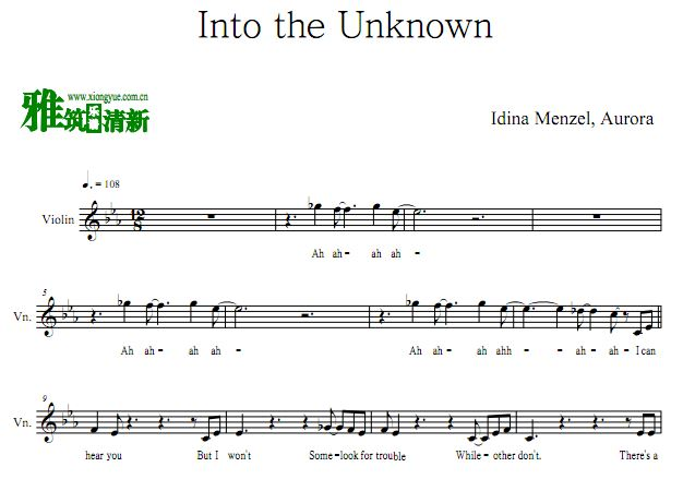 FROZEN2插曲小提琴谱 - Into the Unknown小提琴谱