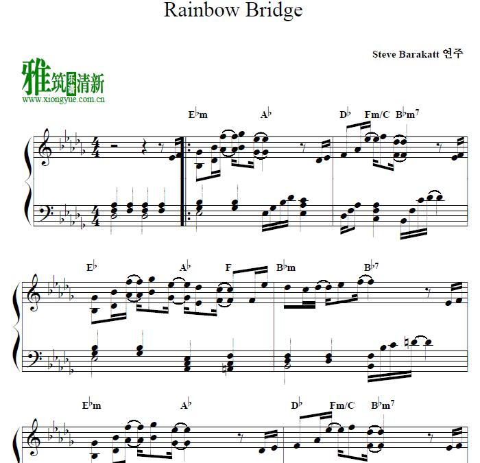 steve barrakatt - rainbow bridge钢琴谱