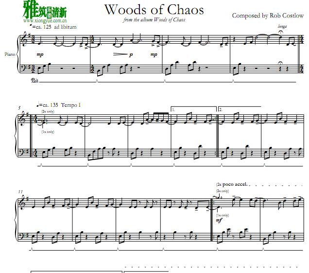 Rob Costlow - Woods of Chaos钢琴谱