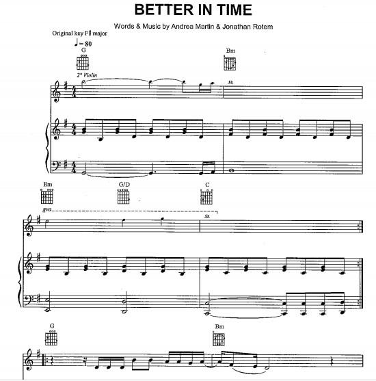 better in time乐谱 小提琴谱 钢琴谱 伴奏谱